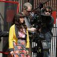 America Ferrera en plein tournage hier à New York
