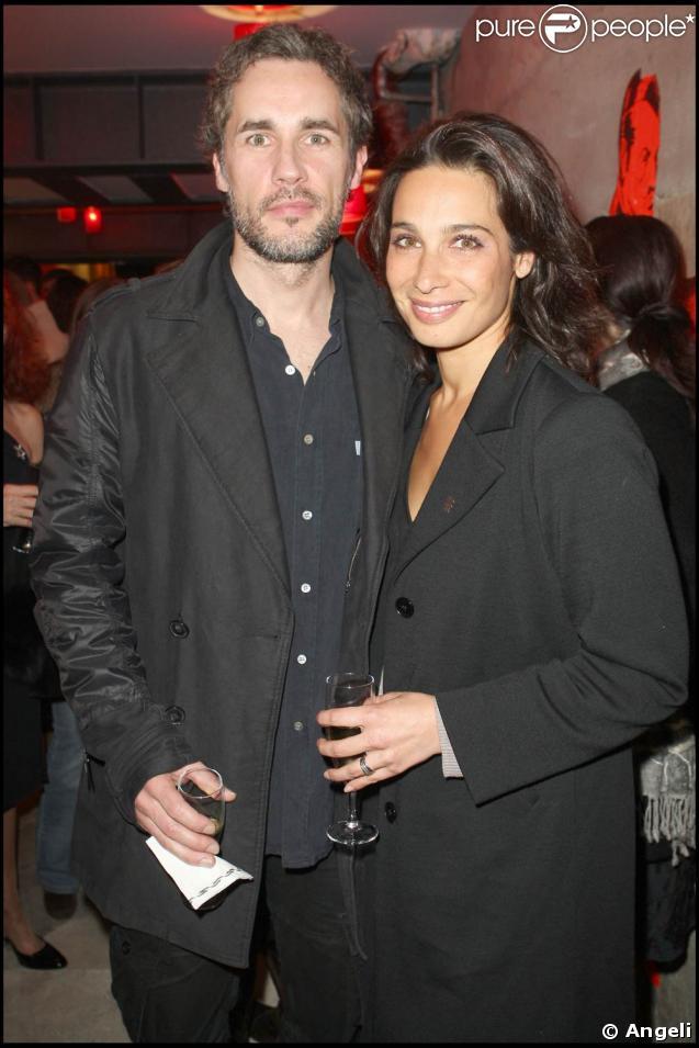 Marie Fugain et son mari Richard Charest, à l'occasion de la soirée de lancement de l'agence artistique Inouï, le 29 avril 2009, à Paris !