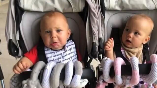 Lucy et Nicholas, les jumeaux d'Enrique Iglesias et Anna Kournikova. Instagram, le 30 août 2018