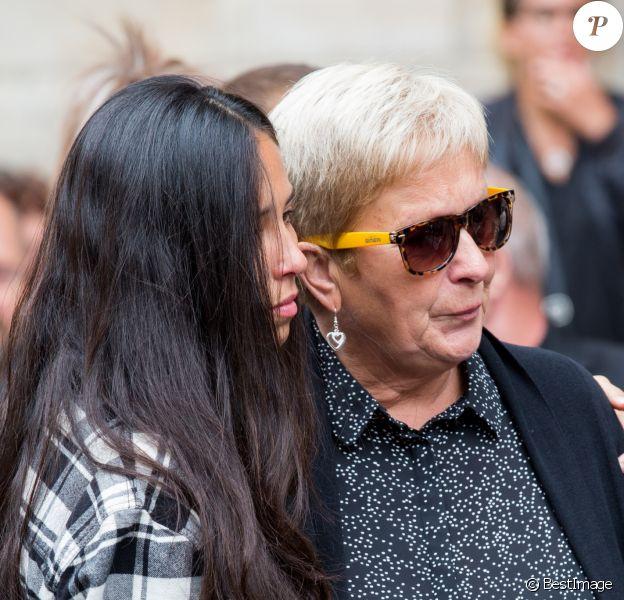 Semi Exclusif - Hagda Prata, Nadine, la mère de Tom Diversy lors des obsèques de Tom Diversy en la basilique de Saint-Nicolas-de-Port le 31 août 2018.