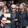Semi Exclusif - Hervé Diversy, le père de Tom, Marion, la soeur de Tom Diversy, Nadine, la mère de Tom Diversy lors des obsèques de Tom Diversy en la basilique de Saint-Nicolas-de-Port le 31 août 2018.