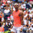 Rafael Nadal s'impose face à Nikoloz Basilashvili lors de l'US Openau centre Billie Jean King à New York le 2 septembre 2018.