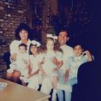 Kris Jenner (ex-Kardashian), Robert Kardashian et leurs enfants Rob, Kourtney, Khloé et Kim.
