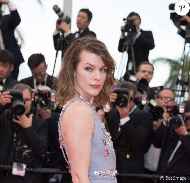 Milla Jovovich - Montée des marches du film «Burning» lors du 71ème Festival International du Film de Cannes. Le 16 mai 2018 © Borde-Jacovides-Moreau/Bestimage