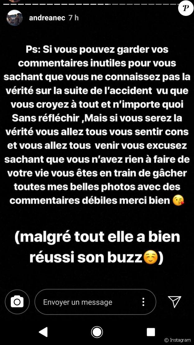Andréane furieuse contre Rémi Notta - Instagram, 5 septembre 2018