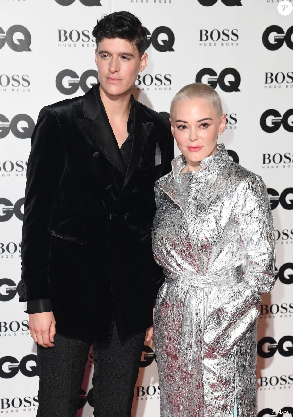"""Rose McGowan et Rain Dove arrivent à la soirée """"2018 GQ Men of the Year Awards"""" à la Tate Modern à Londres, le 5 septembre 2018."""