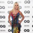 """Donatella Versace à la soirée """"2018 GQ Men of the Year Awards"""" à la Tate Modern à Londres, le 5 septembre 2018."""