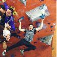 """Tiffany de """"Koh-Lanta"""" avec Alban, Laurent Maistret et Claude pour s'entraîner pour """"Ninja Warrior 3"""" - Instagram, 29 janvier 2018"""
