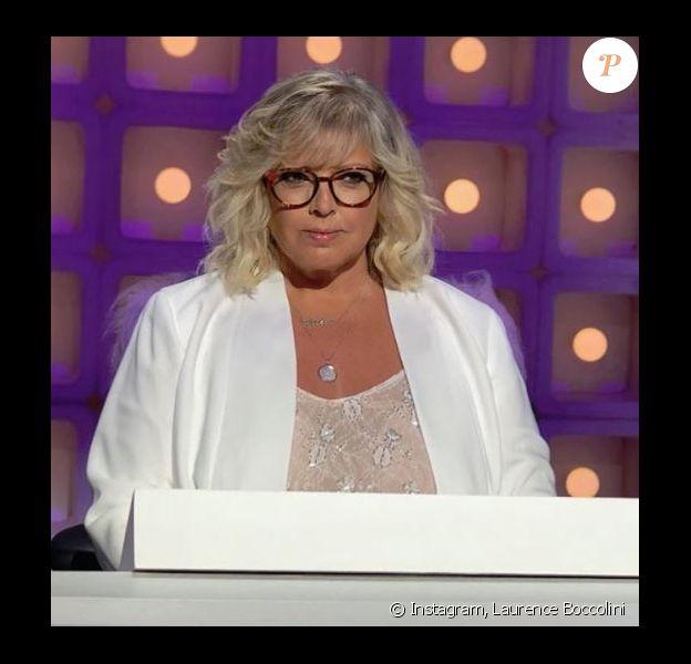 """Laurence Boccolini sur le tournage de """"Grand concours des animateurs"""" sur TF1 - Instagram, 4 septembre 2018"""