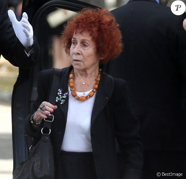 Exclusif - Marceline Loridan-Ivens, guest - Obsèques de Simone Veil au cimetière du Montparnasse à Paris, le 5 juillet 2017.