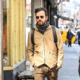 Justin Theroux à New York le 14 mars 2018