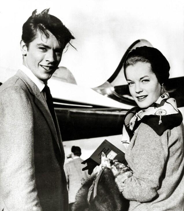 Alain Delon et Romy Schneider vers 1960.