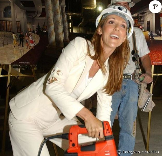Céline Dion a partagé cette photo d'elle prise à Las Vegas, en 2003.