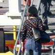 Exclusif - Katie Holmes reprend un jet privé après avoir passé un peu de temps avec son compagnon Jamie Foxx à Atlanta le 18 septembre 2018