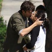 Ashton Kutcher et Mila Kunis, fous d'amour, s'embrassent fougueusement