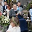 George Bush au mariage de sa petite-fille Barbara avec Craig Coyne à  Kennebunkport, dans le Maine, le 7 octobre 2018.