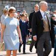 La princesse Eugenie d'York, Le prince Andrew, duc d'York et La princesse Beatrice d'York - Les invités arrivent à la chapelle St. George pour le mariage du prince Harry et de Meghan Markle au château de Windsor, Royaume Uni, le 19 mai 2018.