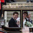 La princesse Eugenie d'York et son mari Jack Brooksbank - Sorties après la cérémonie de mariage de la princesse Eugenie d'York et Jack Brooksbank en la chapelle Saint-George au château de Windsor, Royaume Uni, le 12 octobre 2018.