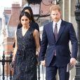 Le prince Harry et sa fiancée Meghan Markle - Célébrités assistent à l'office religieux en mémoire de Stephen Lawrence, un jeune homme noir britannique tué en 1993 à l'âge de 18 ans lors d'un meurtre raciste, à l'église St Martin-in-the-Fields à Londres, Royaume Uni, le 23 avril 2018.