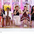 """Nicole et ses concurrentes lors de la 1000e des """"Reines du shopping"""" sur M6. Le 22 octobre 2018."""