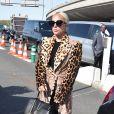 Lady Gaga à l'aéroport de Paris-Charles-de-Gaulle quitte Paris pour New York après avoir assisté au défilé Céline à l'occasion de la Fashion Week à Paris le 29 septembre 2018.