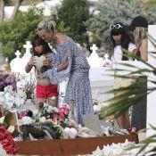 Laeticia, Jade et Joy Hallyday : Grande émotion sur la tombe de Charles Aznavour