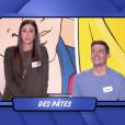 """Une candidate devient hystérique dans """"Les Z'amours"""" sur France 2, le 17 octobre 2018. Ici Caroline et Lucas."""