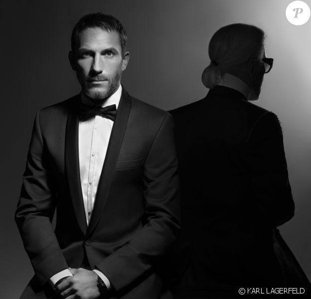 Sébastien Jondeau et Karl Lagerfeld. Photo par Karl Lagerfeld.