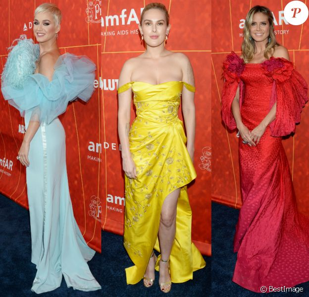 Katy Perry, Rumer Willis et Heidi Klum - Gala amfAR Los Angeles au Wallis Annenberg Center for the Performing Arts. Beverly Hills, le 18 octobre 2018.