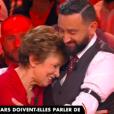 """Cyril Hanouna fond en larmes après le témoignage de Catherine Laborde sur son combat contre la maladie de Parkinson dans """"Balance ton post !"""" sur C8 le 19 octobre 2018."""