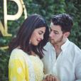 Nick Jonas et Priyanka Chopra amoureux et fiancésà Mumbai le 18 août 2018.