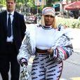 Nicki Minaj lors de son arrivée au défilé Fendi pendant la fashion week de Milan le 20 septembre 2018.