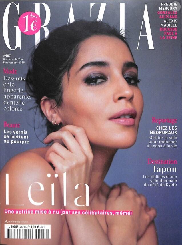 """Couverture du magazine """"Grazia"""" en kiosque le 31 octobre 2018"""