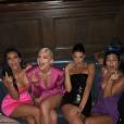 Les soeurs Kardashian-Jenner réunies pour l'anniversaire de Kylie à Los Angeles. Août 2018.