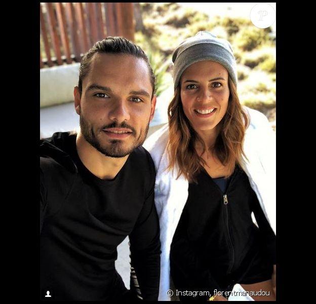 Laure et Florent Manaudou lors d'un shooting pour Dim le 29 octobre 2018.