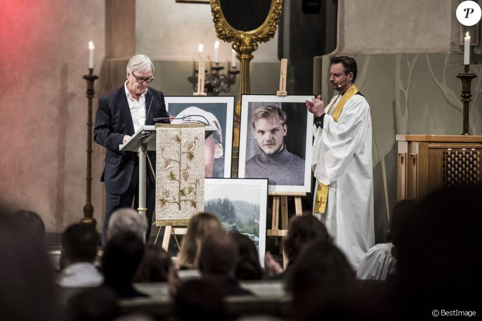 Messe en hommage au DJ Tim Bergling, alias Avicii en l'église Hedvig Eleonora à Stockholm le 16 novembre 2018.