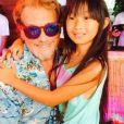 Johnny Hallyday fête de l'anniversaire de sa fille Jade sur Instagram, le 3 août 2015.