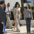 Sophie Marceau et la réalisatrice Marina De Van se rendent au photocall de  Ne te retourne pas , à Cannes, le 16 mai 2009