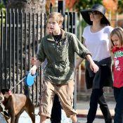 Angelina Jolie : Tout sourire avec Shiloh, Knox, Vivienne... et leur chien !