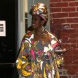 """Lauryn Hill à la sortie du """"Apollo Theater"""" après son concert à New York, le 1er mai 2018."""