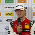 Mick Schumacher lors de la remise de prix du grand prix de Formule 3 de Spielberg en Autriche le 23 septembre 2018.