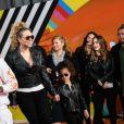 Mariah Carey et Nick Cannon avec leurs enfants Morrocan et Monroe à la soirée Nickelodeon's 2018