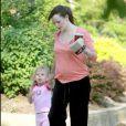 Violet Affleck et sa mère Jennifer Garner à Boston