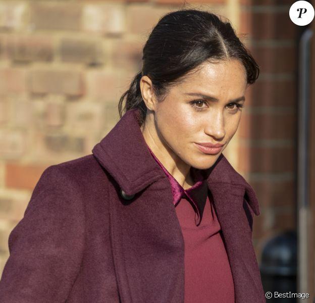 La duchesse de Sussex, Meghan Markle, enceinte, rend visite à la Hubb Community Kitchen à Londres le 21 novembre 2018.