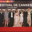 Projection d' Antichrist  au palais des festivals de Cannes : l'équipe du film