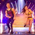 """Clément Rémiens et Denista Ikonomova en plein charlestone sur """"Danse avec les stars 9"""", le 1er décembre 2018."""