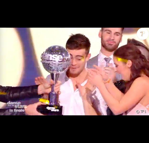 """Clément Rémiens grand gagnant de """"Danse avec les stars 9"""" sur TF1, le 1er décembre 2018."""