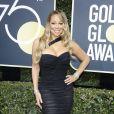 Mariah Carey sur le tapis rouge de la 75ème cérémonie des Golden Globe Awards au Beverly Hilton à Los Angeles, le 7 janvier 2018.