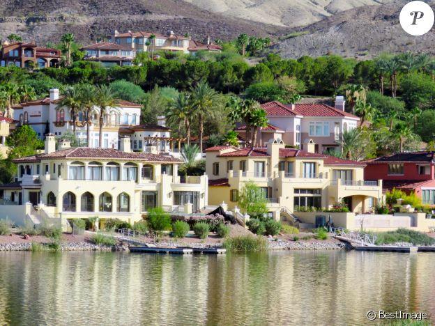 DR - Exclusif - La maison actuelle de Céline Dion à Henderson près de Las Vegas, le 29 août 2015.
