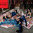 Khloe Kardashian, Kylie Jenner, Kendall Jenner, Kourtney Kardashian, Kim Kardashian posent pour une campagne Calvin Klein à New York.